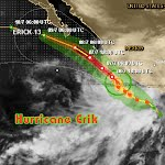 Hurricane Erik Mexico Pacific Coast