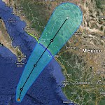 Tropical Storm Sonia Baja California Sur Peninsula Mexico