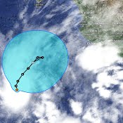 Hurricane Amanda has unexpectedly regained some strength far off Mexico's Pacific coast but is not a threat to land.  The hurricane's maximum sustained winds early Tuesday had increased to near 125 mph (205 km/h), making it a Category 3 storm