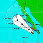 Norbert is expected to produce rainfall amounts of 3 to 6 inches over the southern part of the Baja California peninsula with isolated amounts near 10 inches through Saturday