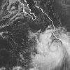 The 11 am EDT Thursday WInd Probability Forecast from NHC gave Cabo San Lucas on the southern tip of the Baja Peninsula a 30 percent chance of experiencing tropical storm-force winds from Polo, and a 1 percent chance of hurricane-force winds