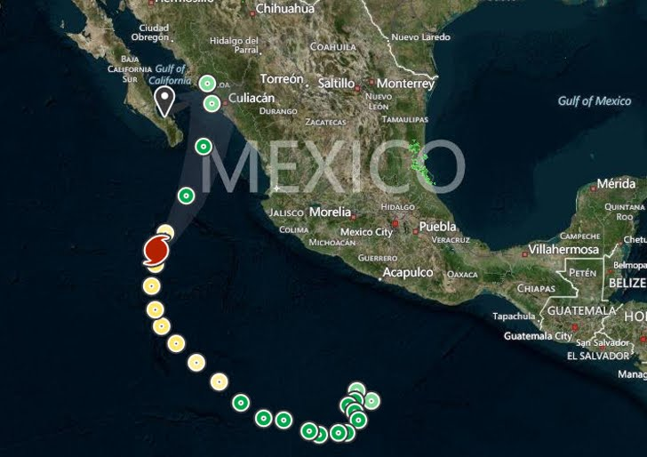 Vance passing just to the southeast of Socorro island