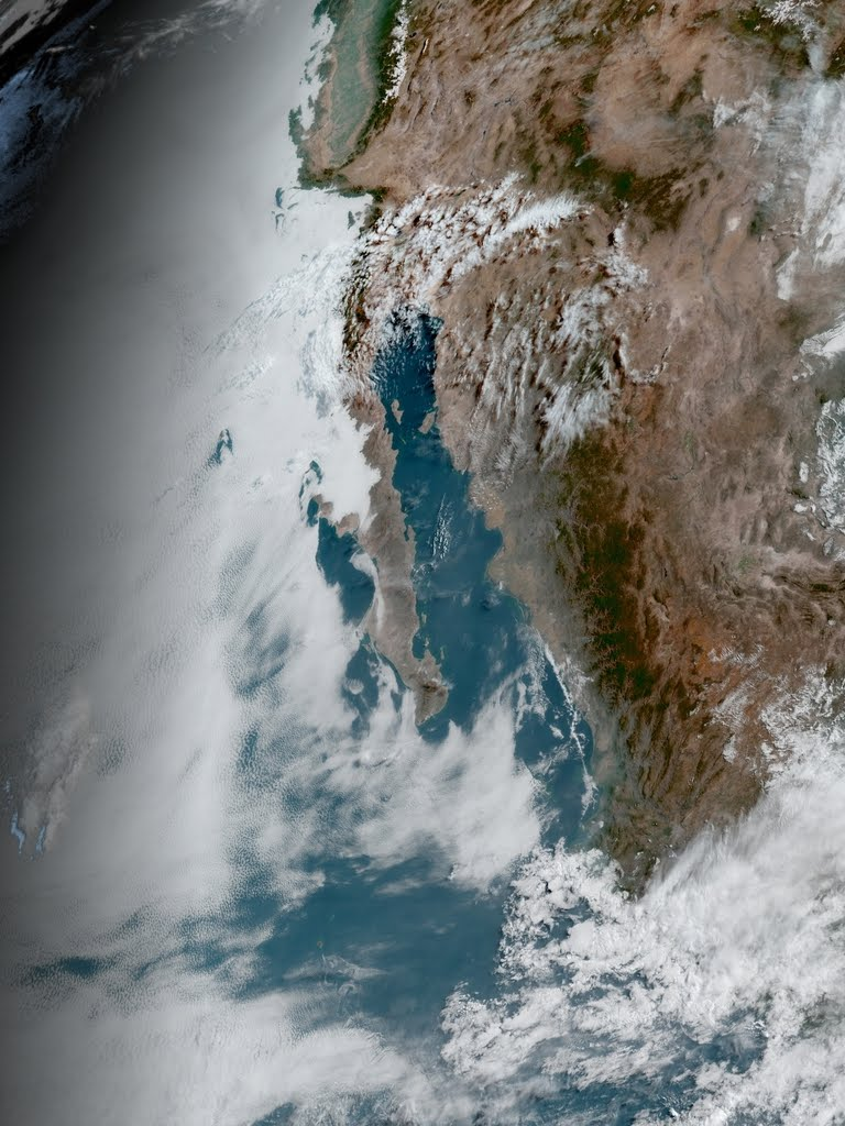 Clouds moving in from Pacific